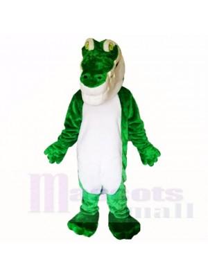 Grün Krokodil Leicht Maskottchen Kostüme Erwachsene