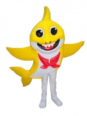 PinkFong Gelb Baby Hai Maskottchen Kostüme Meer Ozean Karikatur