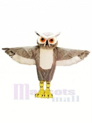 Grau Eule mit Groß Augen Maskottchen Kostüme Tier