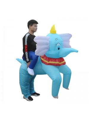 Blau Elefant Tragen mich Reiten auf Aufblasbar Kostüm Halloween Weihnachten zum Erwachsene