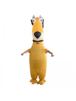 Komisch Gelb Hund Aufblasbar Kostüm Halloween Weihnachten Kostüm zum Erwachsene