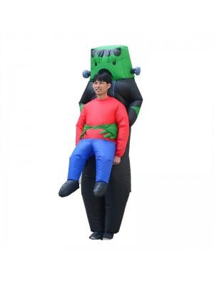 Roboter Außerirdischer Tragen mich Aufblasbar Kostüm Grün Roboter Halloween Weihnachten Bodysuit zum Erwachsene