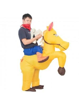 Pferd Tragen mich Reiten auf Aufblasbar Kostüm Halloween Weihnachten zum Erwachsener