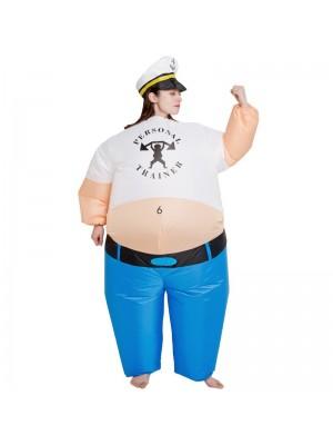 persönlich Trainer Aufblasbar Kostüm das Matrose Mann Cosplay Kostüm zum Erwachsene Weiblich
