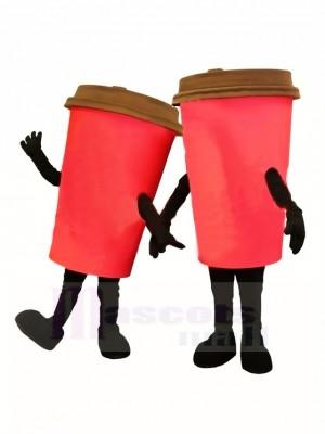 rot Kaffeetasse Maskottchen Kostüm