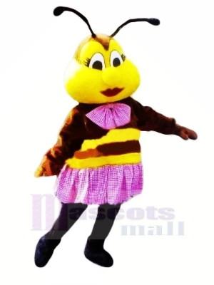 Wunderschönen Biene mit Lila Rock Maskottchen Kostüme Tier