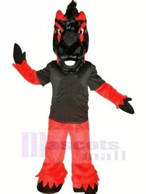 Schwarz und rot Pferd Maskottchen Kostüme Tier