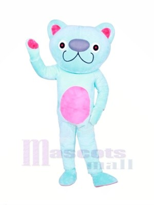 Süß Blau Katze Maskottchen Kostüme Tier