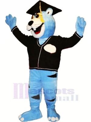 Blau Gelehrt Panther Maskottchen Kostüme Tier
