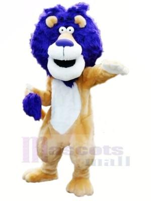 Löwe mit Blau Haar Maskottchen Kostüme Tier