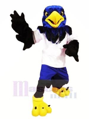 Blau Falke mit Schwarz Flügel Maskottchen Kostüme Tier