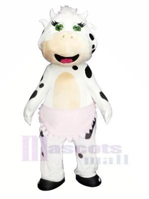 Süß Weiß Kuh Maskottchen Kostüme Tier