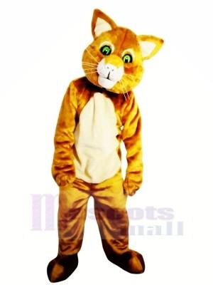 Braun Katze mit Grün Augen Maskottchen Kostüme Tier