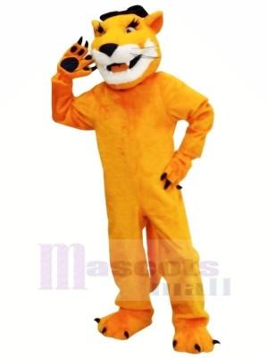 Braun Puma mit Lange Bart Maskottchen Kostüme Tier