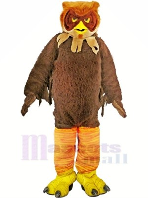 Braun Pelzig Eule Erwachsene Maskottchen Kostüme Tier