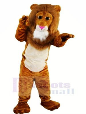 Braun Löwe mit Lange Schwanz Maskottchen Kostüme Tier