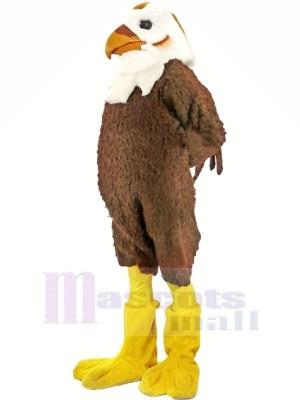 Stark Braun und Weiß Falke Maskottchen Kostüme Tier