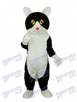 Weiß Bauch Schwarz Katze Maskottchen Erwachsene Kostüm Tier