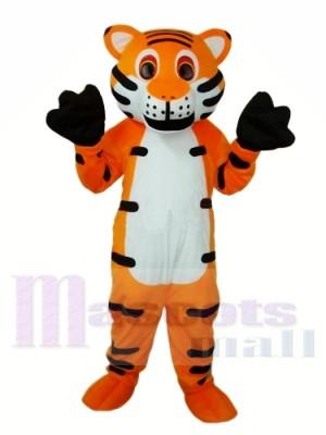 Orange Tiger Maskottchen Kostüm für Erwachsene Kostenloser Versand