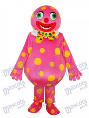 Spotted Clown Maskottchen Erwachsener Kostüm Karikatur Anime
