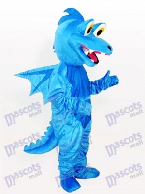 Blauer Stegosaurus Erwachsener Maskottchen lustiges Kostüm
