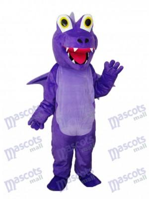 Lila Dorn Drachen Maskottchen Erwachsene Kostüm Tier