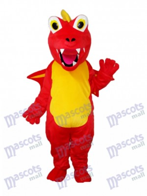 Red Thorn Dragon Maskottchen Adult Kostüm Tier