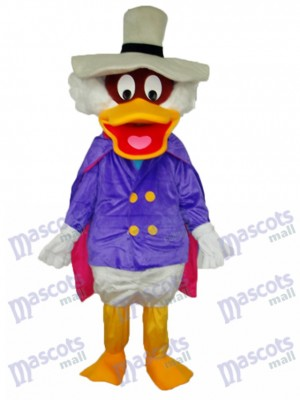 White Hat Duck Maskottchen Adult Kostüm Tier