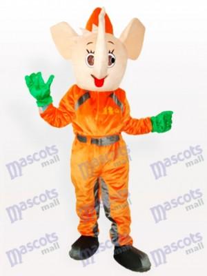 Gelbes Elefant Maskottchen Kostüm