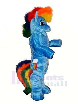 Blau Pony Pferd Maskottchen Kostüme Karikatur