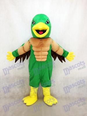Mighty Golden Eagle Green und Gelb Maskottchen Kostüm