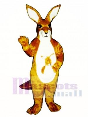 Känguru mit Joey Maskottchen Kostüm