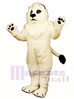 Weiß Löwe Maskottchen Kostüm