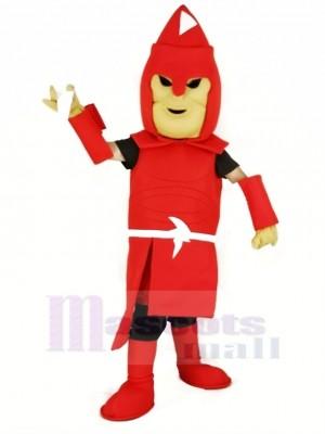 rot Titan spartanisch Maskottchen Kostüm Erwachsene