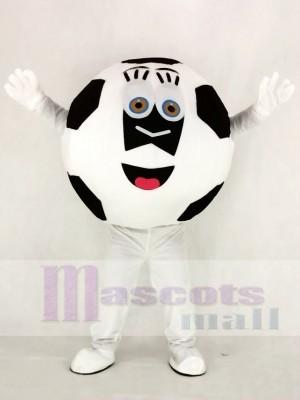 Schwarz und Weiß Fußball Maskottchen Kostüm Schule