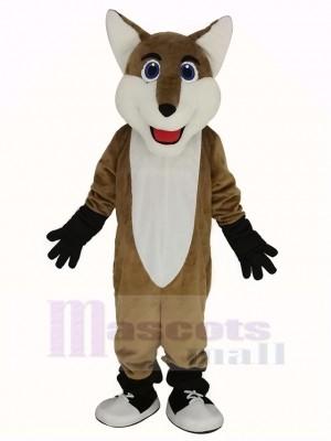 Lächelnd Fuchs Maskottchen Kostüm