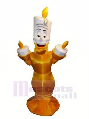 Komisch Charakter Lumiere Maskottchen Kostüm Karikatur
