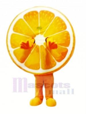 Saftig Orange Maskottchen Kostüm Karikatur