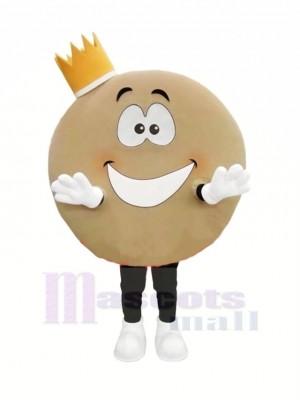 Süß Pfannkuchen Maskottchen Kostüm Karikatur