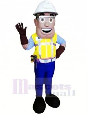 Lächelnd Ingenieur Maskottchen Kostüm Menschen