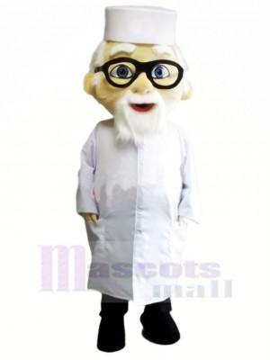 Alt Arzt mit Brille Maskottchen Kostüm Menschen