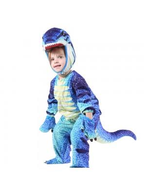 Blau T-Rex Dinosaurier Kostüm Dinosaurier Overall Halloween Weihnachten Kleid oben Geschenk zum Kind