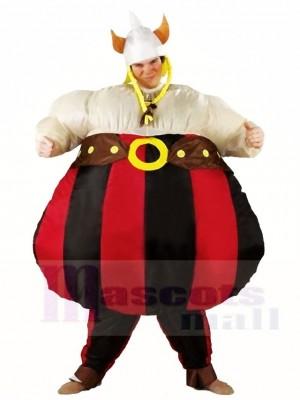 Wikinger Asterix Obelix Aufblasbare Halloween Weihnachts kostüme für Erwachsene