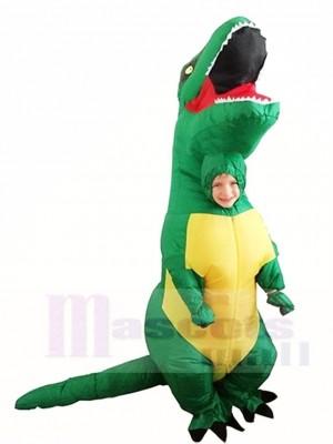 Grüne T REX Dinosaurier aufblasbare Halloween Weihnachts kostüme für Kinder