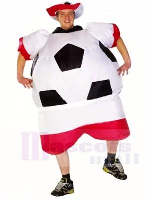 Weltmeisterschaft Polen Fußball Spieler Aufblasbares Halloween Weihnachten Kostüme für Erwachsene