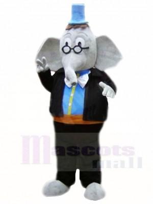 Blauer Hut Elefant Maskottchen Kostüme Tier