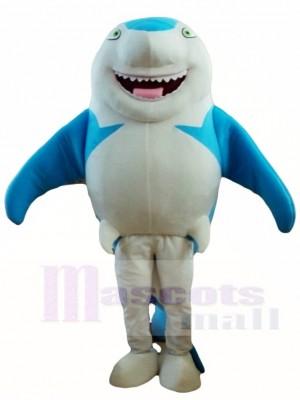 Blaues Lächeln Haifisch Maskottchen kostüm Seefisch Tier ozean