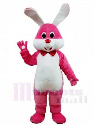Rosa Hase Ostern Hase mit Bowknot Maskottchen Kostüme Tier