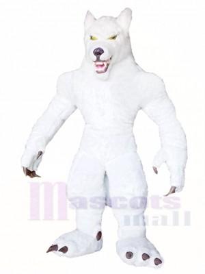 Weiß Wolf Maskottchen Kostüme Tier