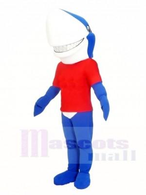 Blaues Lächeln Haifisch Maskottchen kostümiert Meer